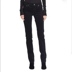 Ralph Lauren jeans black velour straight leg pants